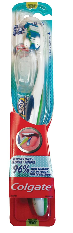 Colgate - 360 Degrees - Cepillo de dientes medio: Amazon.es: Salud y cuidado personal