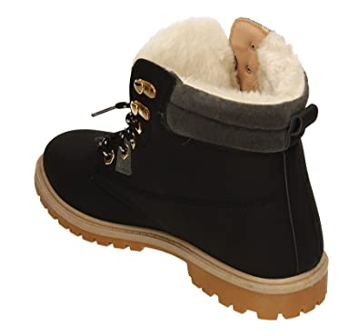 c97ce921f61f SWANKYSWANS Tony Womens Faux Fur Lined Winter Warm Ladies Snow Platform  Suede Ankle Boot Shoes Trainers