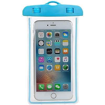 Universel Coque étanche à sec Sac flottant, Coque étanche Coque, Android téléphone portable, Matériau respectueux de l'environnement pour smartphone jusqu'à 15,2cm, carte