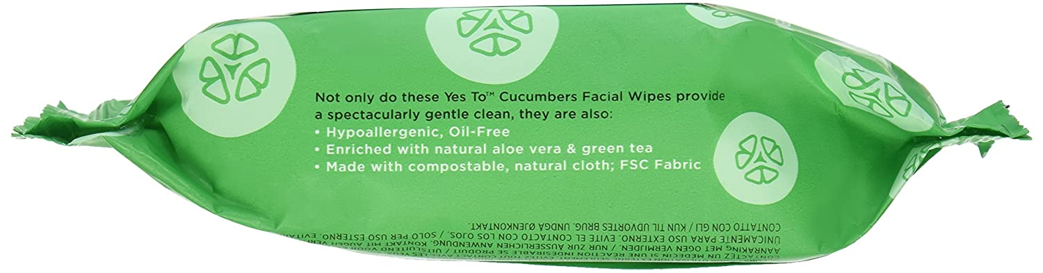 Amazon.com: Yes To Cucumbers Soothing Hypoallergenic Facial Wipes ...