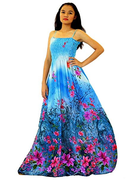 Maxi Dress Women Plus Size Party Wedding Guest Haiwaiian Beach Floral  Sundress