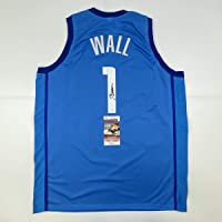 $99 » Autographed/Signed John Wall Houston Light Blue Basketball Jersey JSA COA