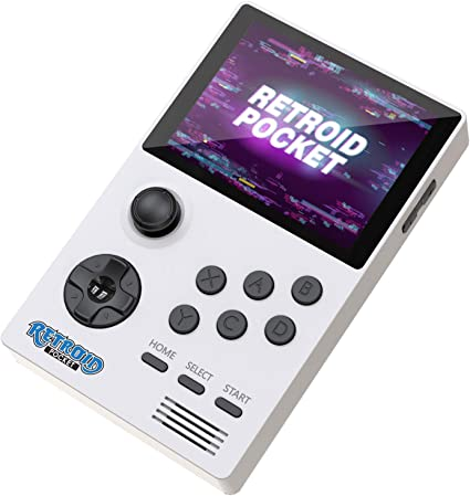 White 64GB 4000mAh Rechargeable Battery Retroid Pocket Support TV Connection with HDMI Output to TV or PC Retro Gaming System with Dual Boot Runs Android 3.5 Inch Screen Handheld Game Console