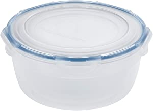 LOCK & LOCK Easy Essentials Food Storage lids/Airtight containers/Stackable, BPA Free, 6 Piece, Clear