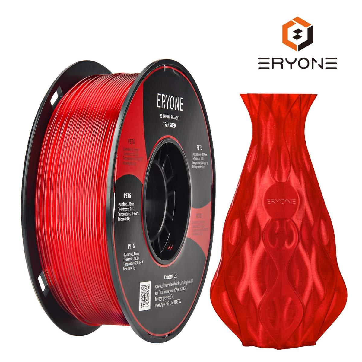 Filament PETG 1,75mm Wei/ß ERYONE PETG Filament F/ür 3D-Drucker und 3D-Stift 1 kg 1 Spool