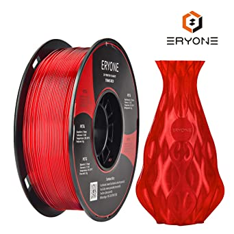 Filamento PETG Transparente Red 1.75 mm, filamento ERYONE PETG ...