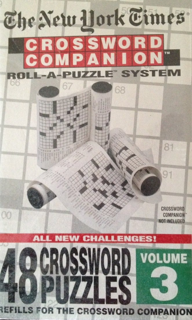 The New York Times Crossword Companion Roll A Puzzle Refill 48 Crossword Puzzles Volume 3