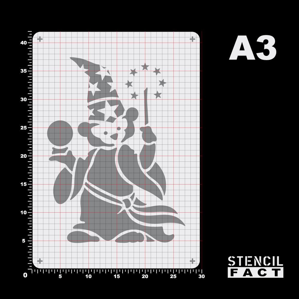 BE46 Schablone Zauber Teddy Zauberer B/är Magic