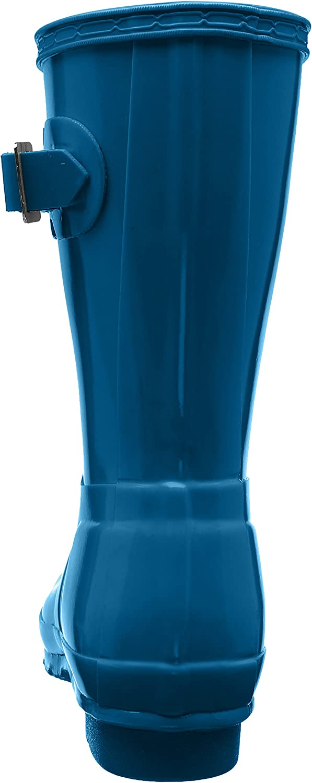 HUNTER Damen Low Wellington Boots Gummistiefel, Green Blau Blue Rob