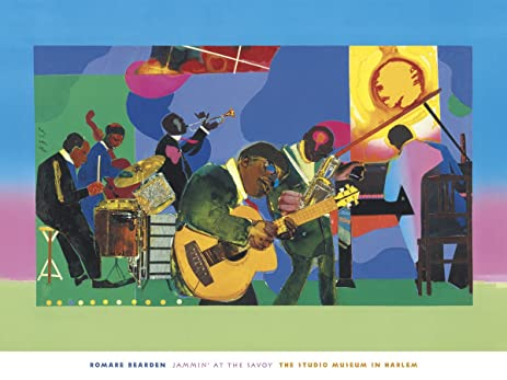 Amazoncom Jammin At The Savoy By Romare Bearden Painting Print - Romare-bearden-coloring-pages