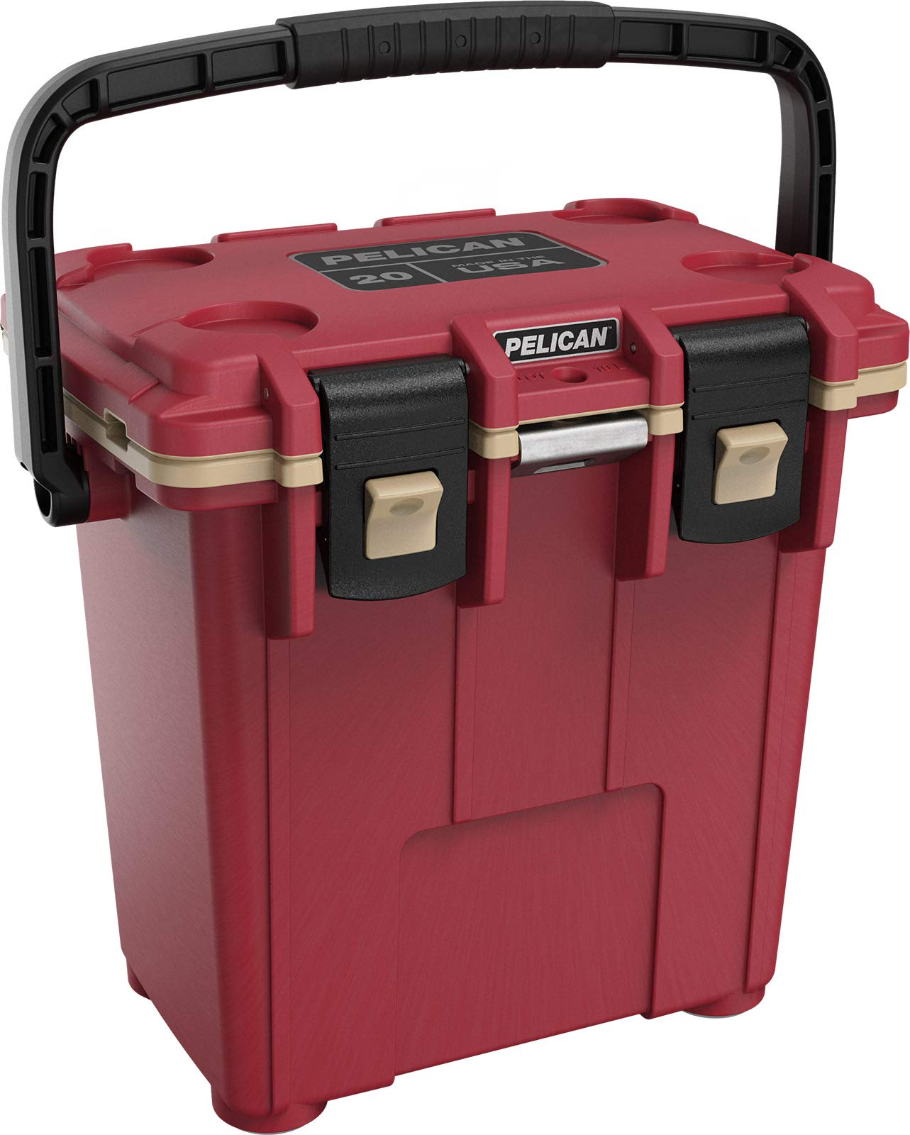 Pelican Elite 20 Quart Cooler (Canyon Red/Coyote)