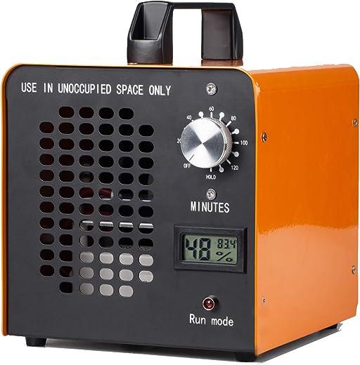 ELINP Generador de ozono Comercial, eliminador de olores, purificador de Aire de ozono Industrial, 10.000 MG/h, ionizador para Habitaciones, Humo, Coches y Mascotas