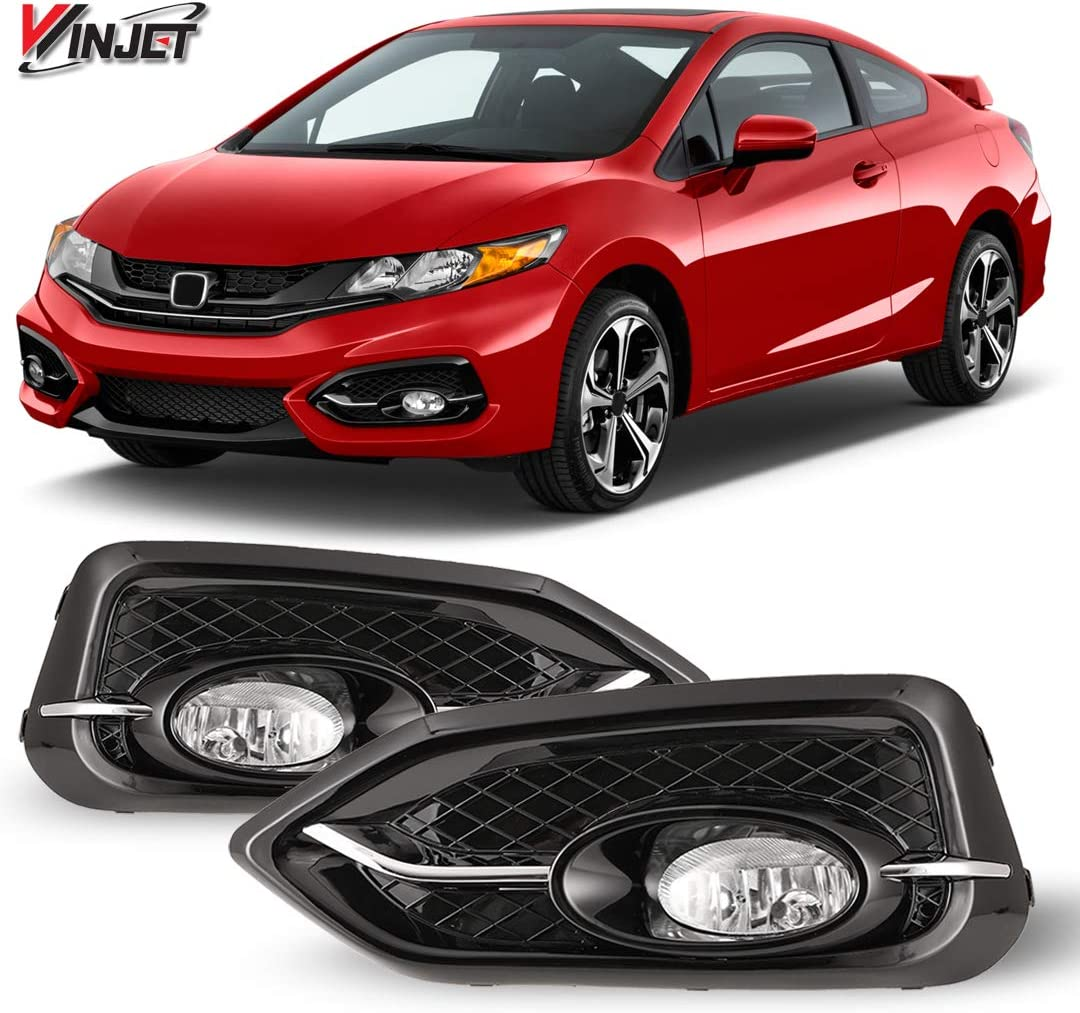 Honda Accord 2 DOOR Coupe ONLY Wiring Kit and Bezel Included Winjet WJ30-0098-09 Clear Lens Fog Light Kit