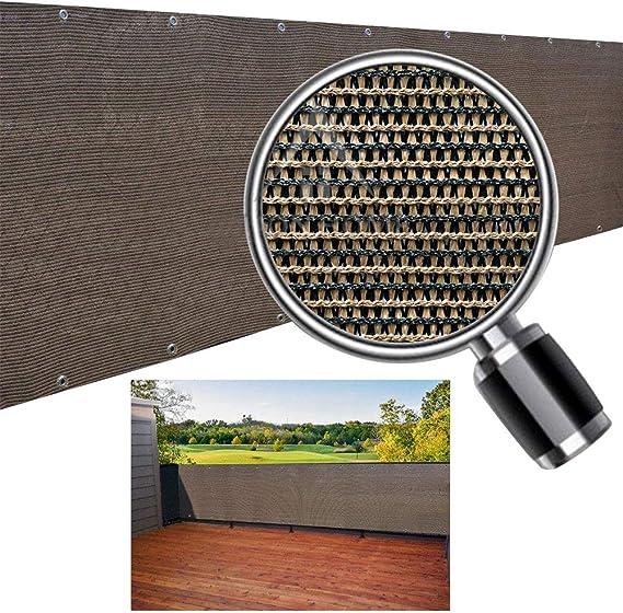 Aiyaoo Frangivista per Recinzione 50x300cm Resistente a Los rayos UV Balcone Tutela della Privacy Facile Manutenzione con Fascette e funi per Ringhiera Protezione Balcone Beige