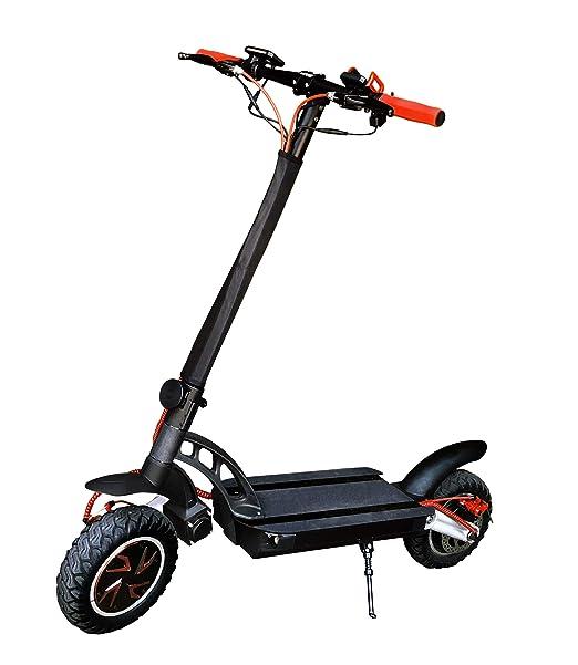 Patinete eléctrico twin doble motor brushless hub 1600w - Scooter sin silla de alta gama rápido con batería de litio negro - Twin motor dual
