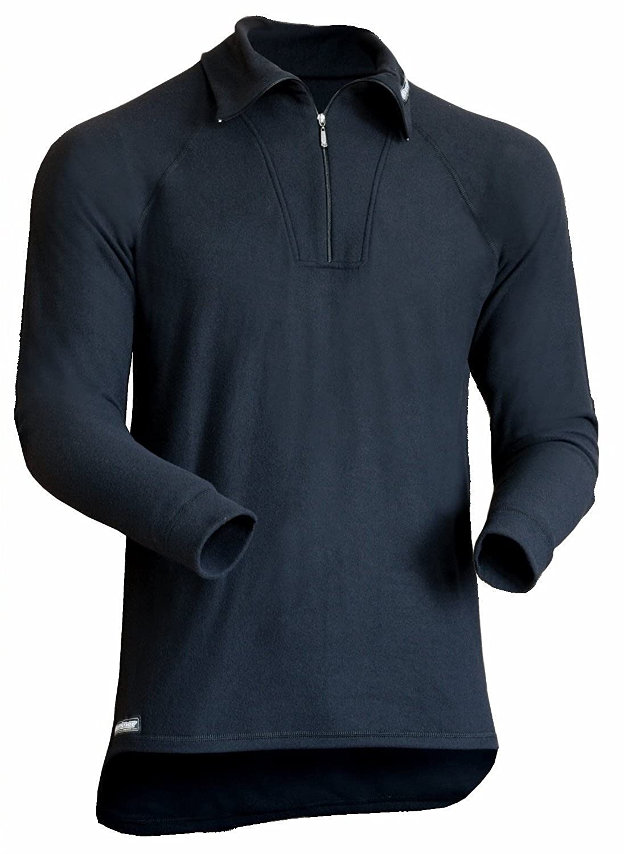 Berkner Langarmshirt mit Kragen-Zip Herren / Skiunterwäsche / Funktionsunterwäsche - SILVER BION forte - Thermoactiv