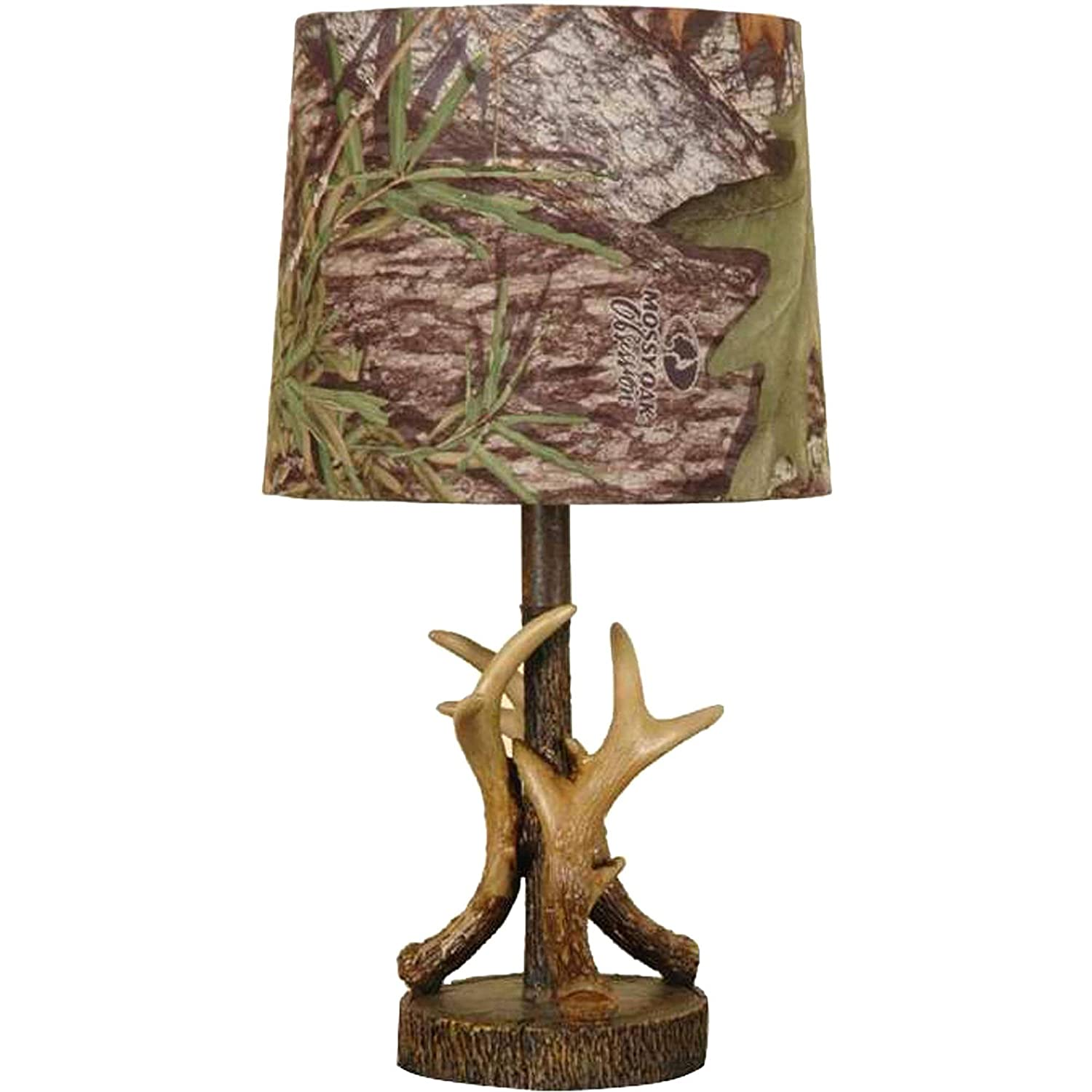 Mossy Oak Deer Antler Accent Lamp Dark Woodtone Table Lamps - Accent lamps for bedroom