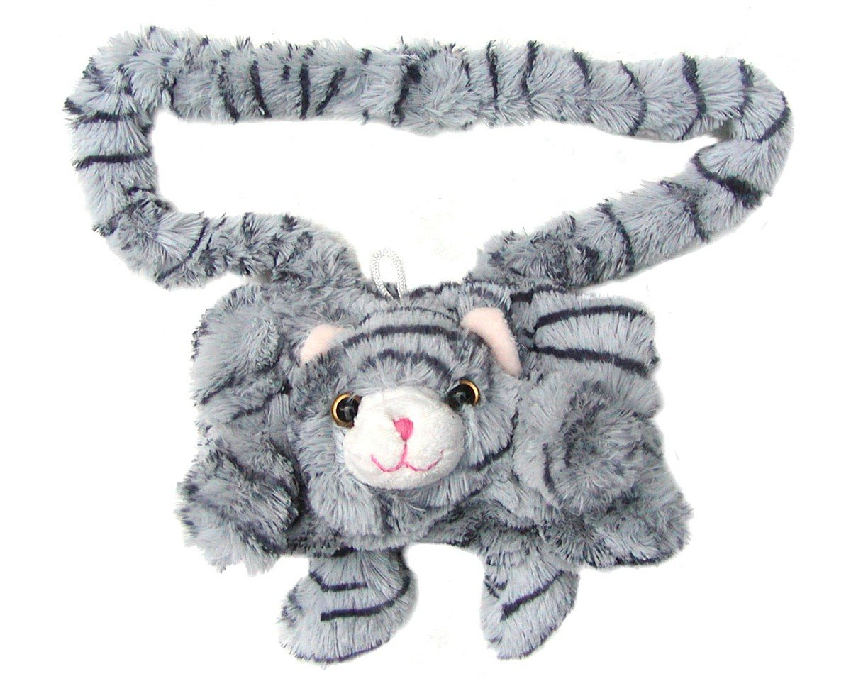 Chamier Lammfellprodukte niedlicher Warmer Kinder Muff Katze aus Microfaser fü r warme Kinder Hä nde, waschbar bei 30 Grad, ca. 20 cm breit