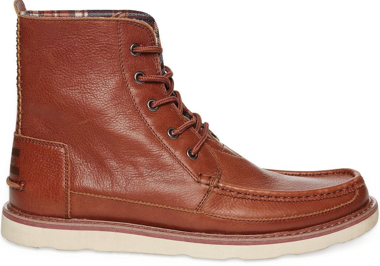 TOMS Men's Searcher Boot Brown Leather 8 D(M) US