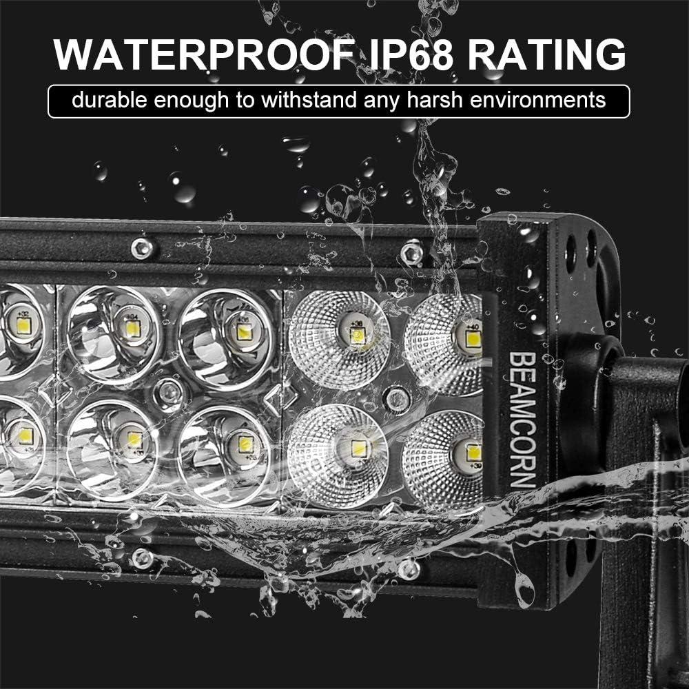 25 W//Brackets Led Light Bar BEAMCORN Curved 22 Inch 120W 2nd Generation Dual Row Combo Spot Flood Waterproof Light Bar Off Road Lights Driving Backup Lights for Trucks Jeep RZR ATV UTV