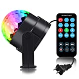 Spriak Party Kids Lights Supplies Sound Activated 7 Color Led Disco Ball Lamp Stage Dj Lighting Baby Night Light for Bedroom Kids Birthday Gift Toys Mood Club Wedding Celebration Karaoke Machine