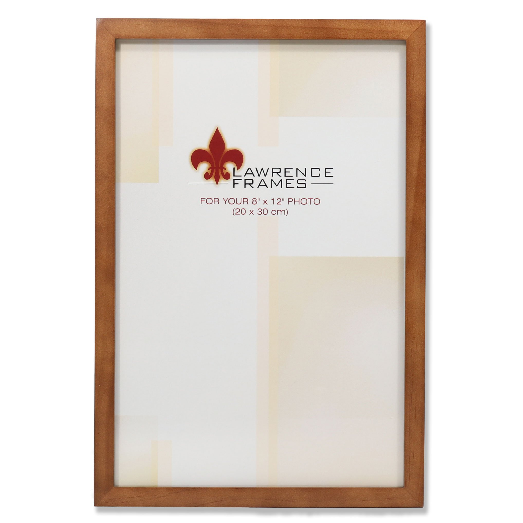 Lawrence Frames 766082 Nutmeg Wood Picture Frame, 8 by 12-Inch by Lawrence Frames