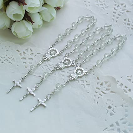 Baptism Favors Mini Rosary Bautizo Comunion Wedding Christening Recuedos 100 pcs