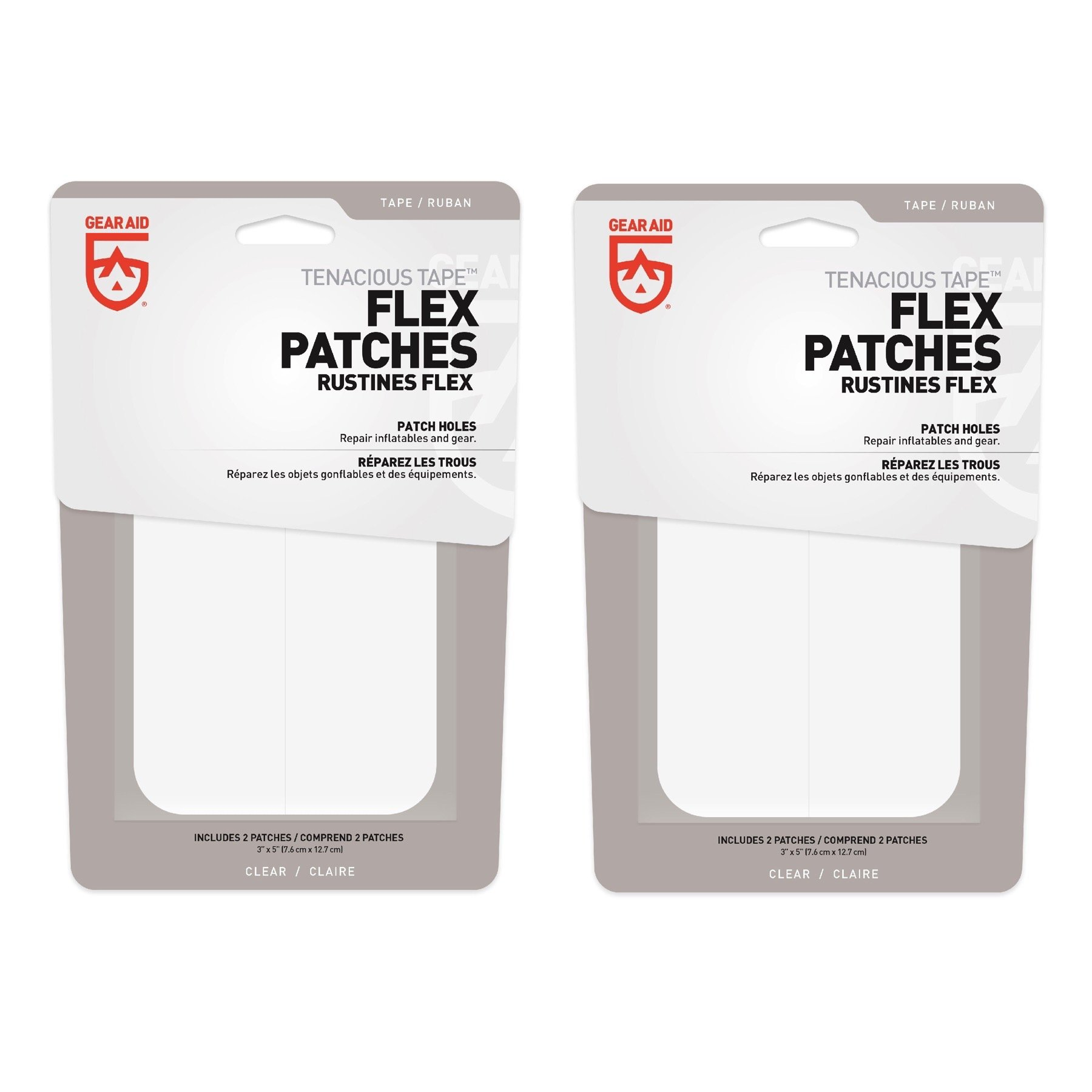 McNett Gear Aid Tenacious Tape Max Flex Repair Patches Permanent (2-Pack)