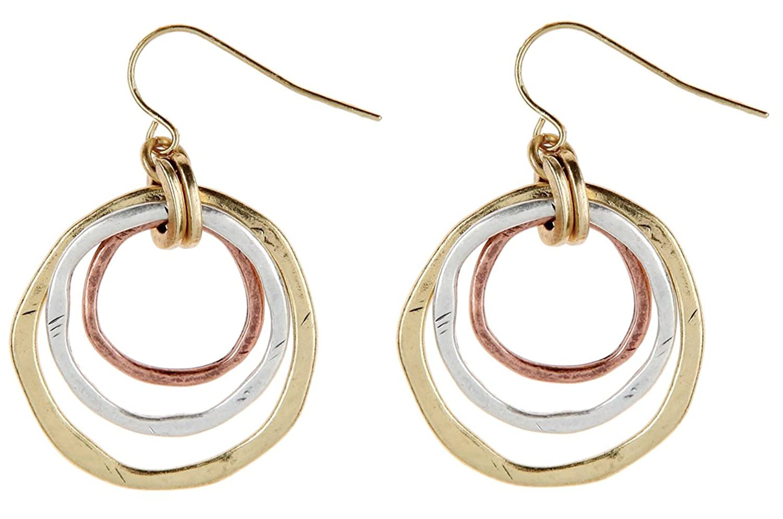 Rain 1 Concentric Circles Dangle Earrings