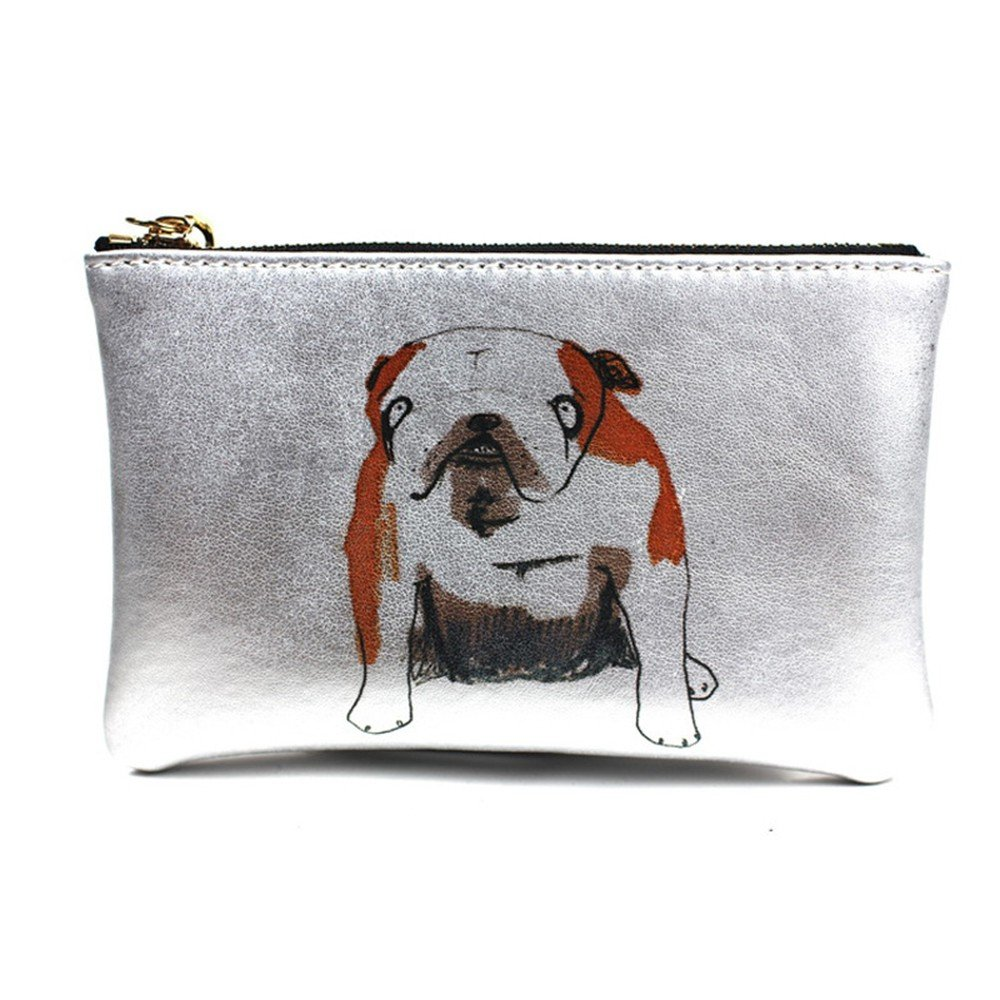 Wallet Genuine Leather Zero Wallet Silver Real Leather Print Graffiti Handbag Trumpet 1610Cm Lady