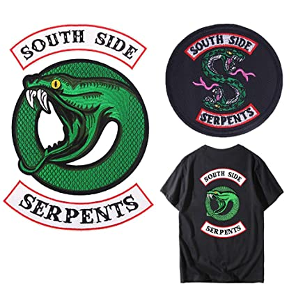 e03ab9437 Amazon Com 3 Piece Set Riverdale Tv Series Southside Serpent Iron