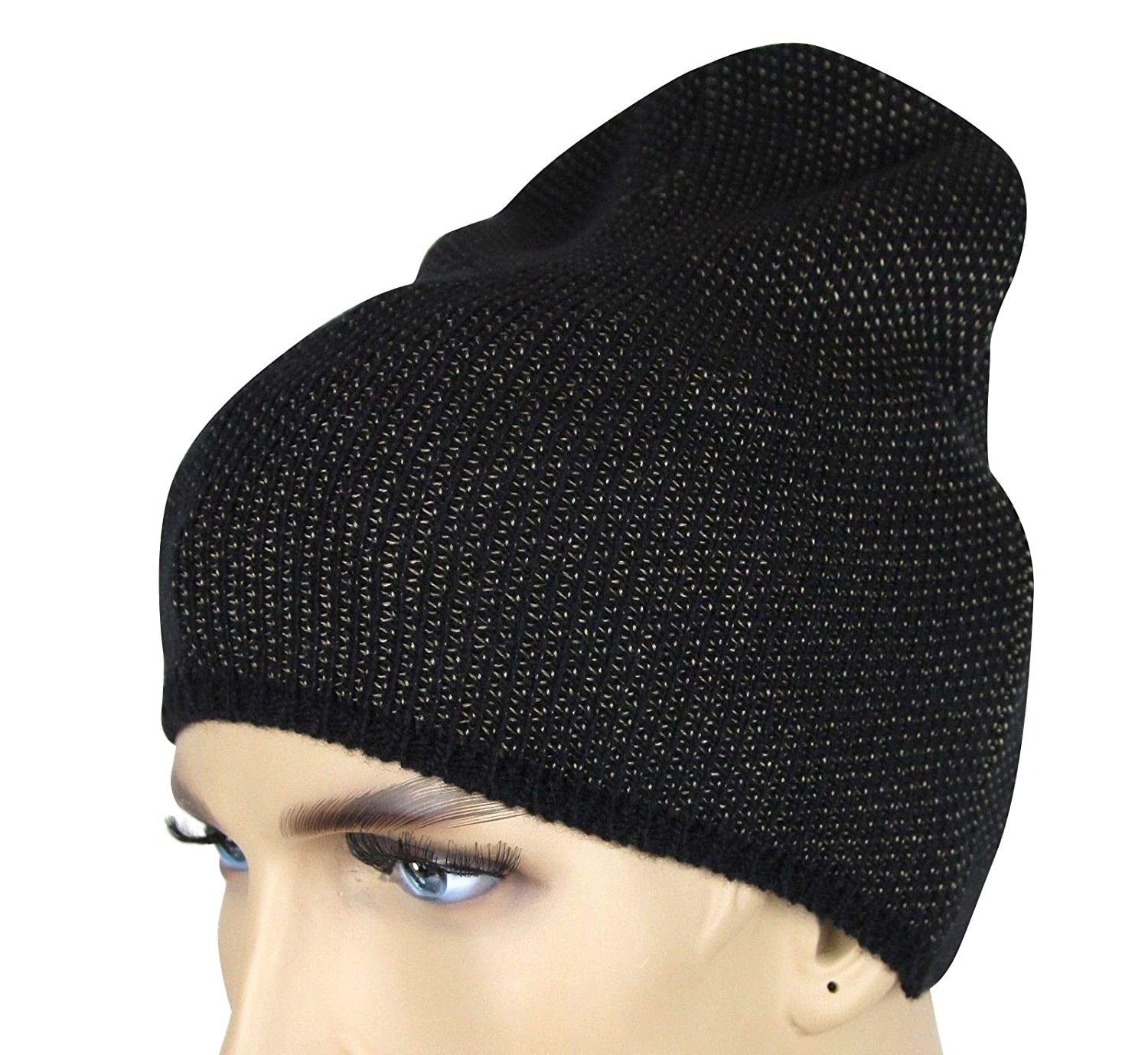 Amazon.com  Gucci Unisex Black Beige Wool Cashmere Cotton Knit Beanie Hat  with Logo 352350 1079  Clothing d5aa27f1791