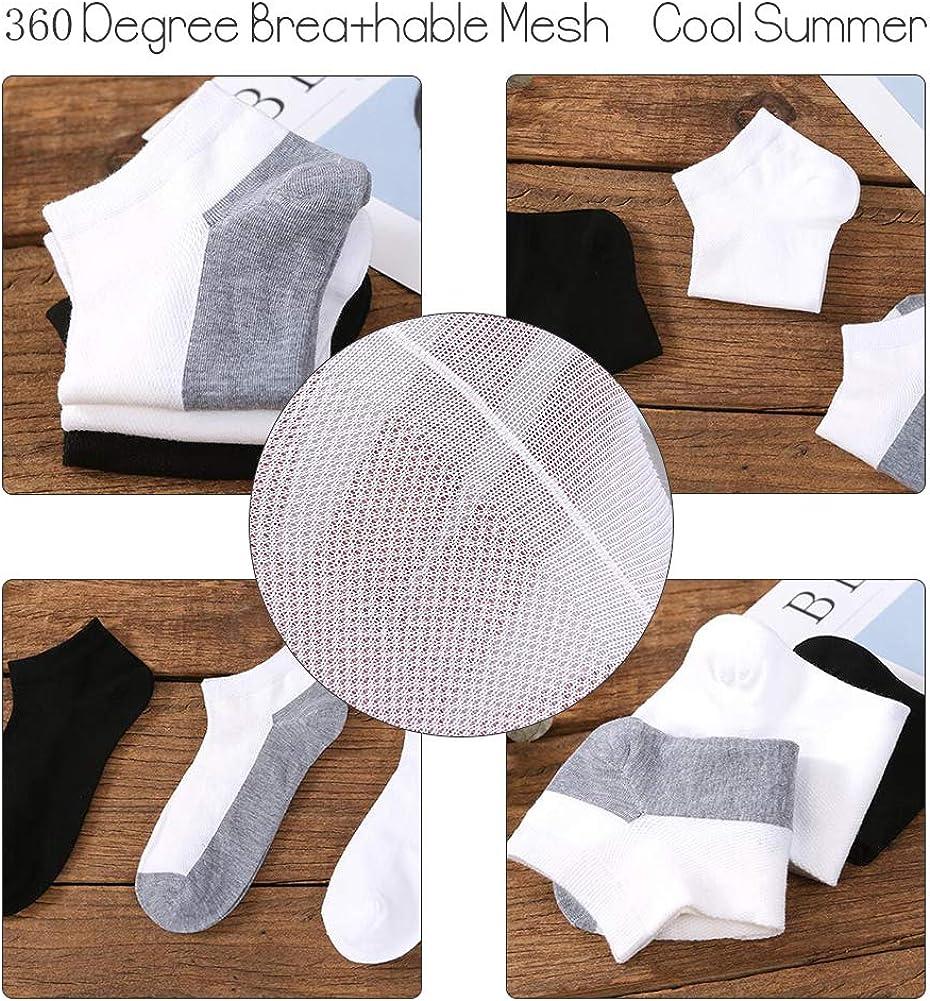 trotar 6 pares SCOBUTY Calcetines Deportivos,Calcetines para hombres,calcetines cortos para hombres tela transpirable calcetines deportivos en algod/ón ideales para hacer ejercicio