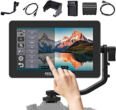 Portable Camera Monitor 5.5 Inch IPS Touch Screen 1920 x 1080 Video DSLR Camera Field Monitor