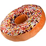 Yistu Ppillow Cushion,Plush Soft Novelty Style Doughnut Shaped Ring Pillow (Multicolor 1)