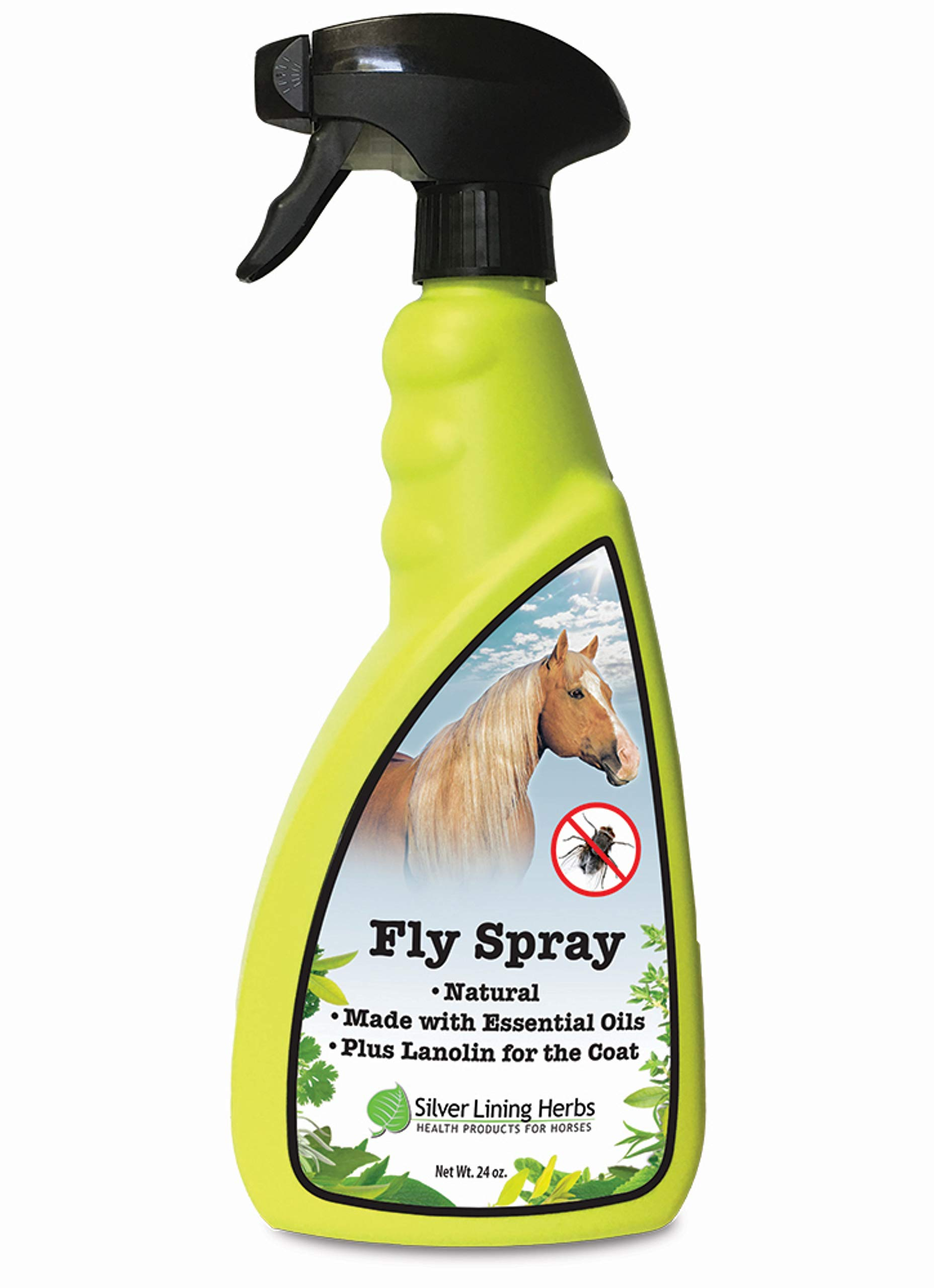 Silver Lining Herbs Natural Fly Spray For Horses , 24 Ounce , Horse Fly Spray is Made In The USA