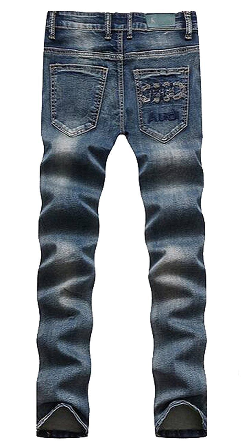 TOPING Fine Fashion Men's Boys Skinny Thin Distressed Hip Hop Jean Slack Blue30 by Toping Fine Pants (Image #2)