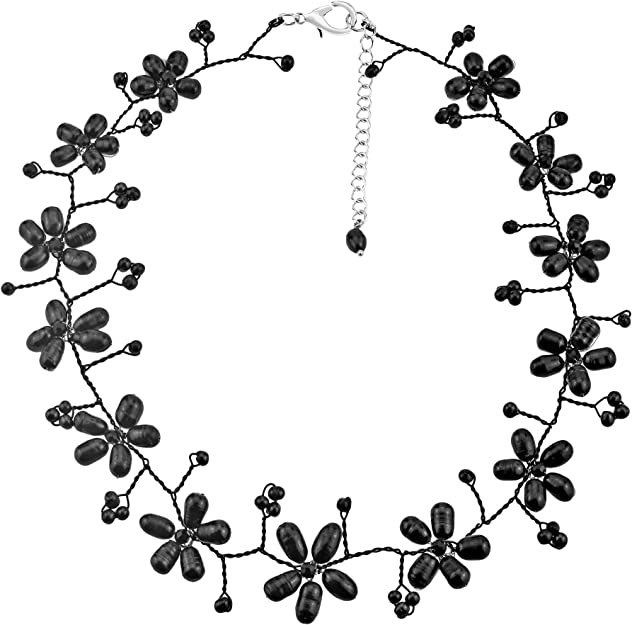 AeraVida Everyday Elegance Cultured Freshwater Pearl Oval .925 Sterling Silver Necklace
