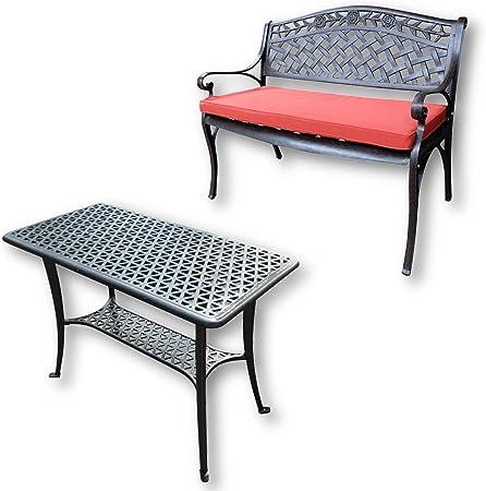 Lazy Susan - Table Barbecue et Banc Rose - Meubles de Jardin ...