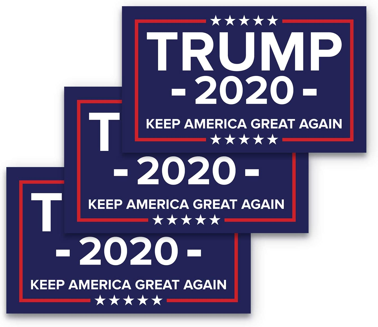 3x5 Keep America Great Again Bumper Sticker 3-Pack Made with Durable, Waterproof Materials, Donald Trump Bumper Sticker, MAGA Bumper Sticker, Republican Bumper Sticker