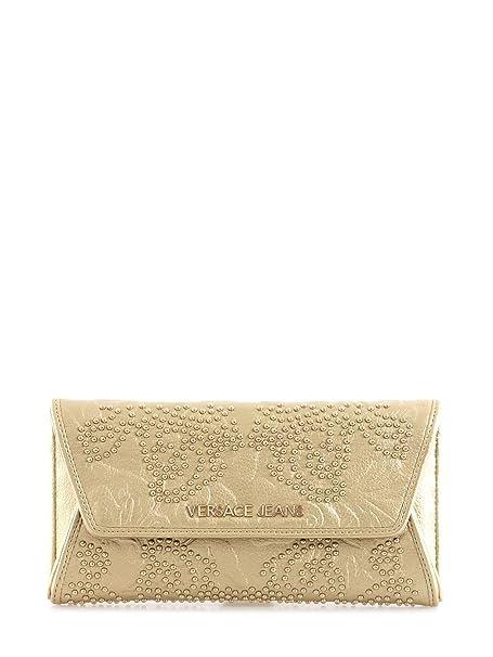 Versace Cartera de mano de Poliéster para mujer Dorado dorado S: Amazon.es: Ropa y accesorios