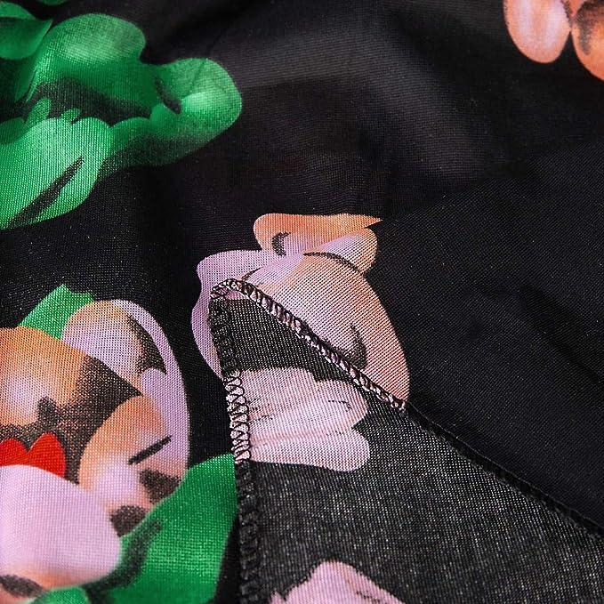 Hffan 50s Retro Vintage Rockabilly Kleid Knielang Partykleider Cocktailkleid Abendkleider: Odzież