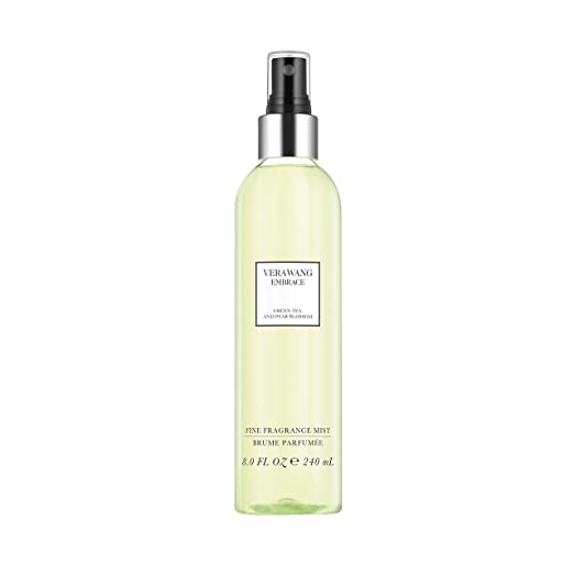 Vera Wang Embrace Body Mist for Women Green Tea and Pear Blossom Scent 8 Fluid Oz. Body Mist Spray. Bright, Modern, Classic Fragrance