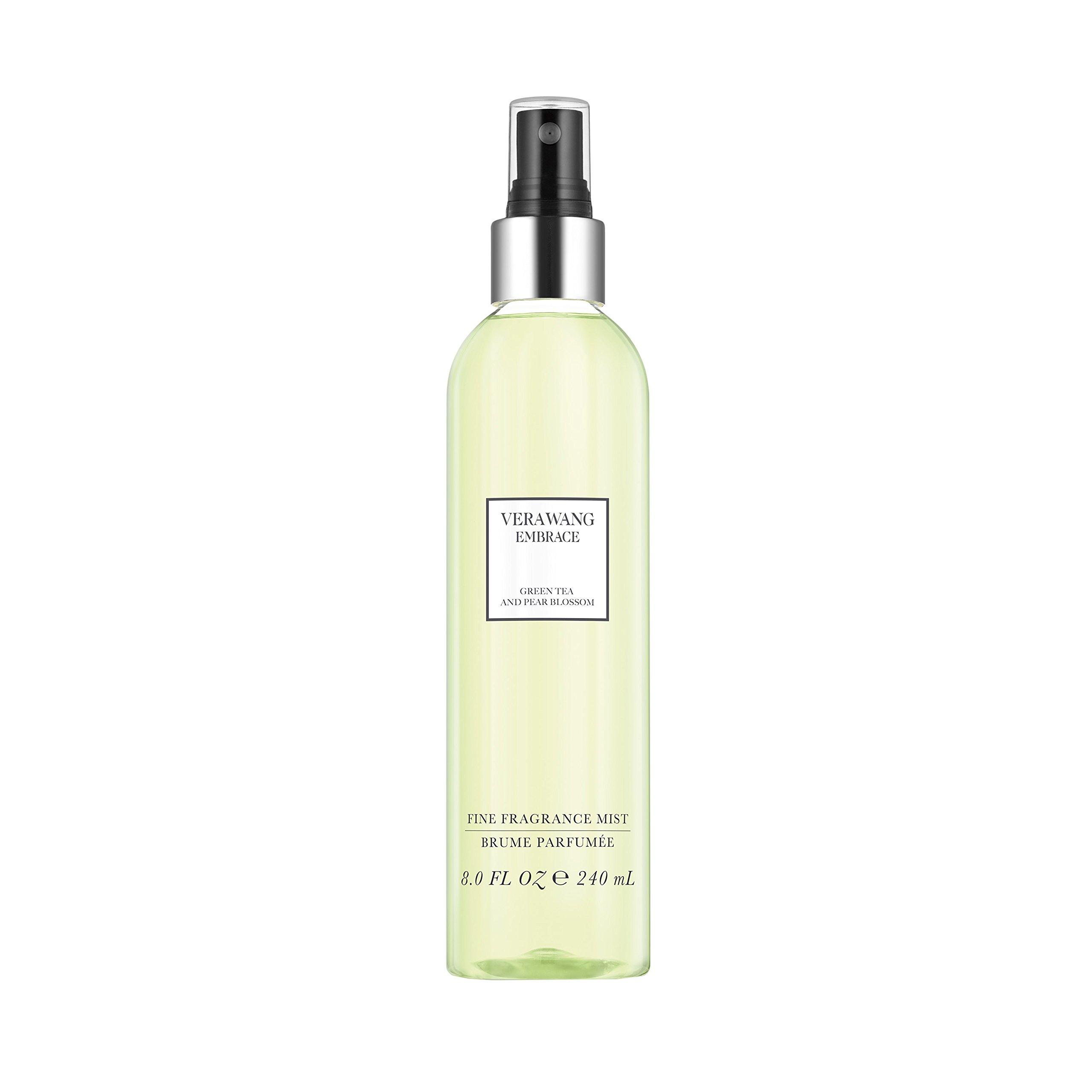 Vera Wang Embrace Body Mist for Women Green Tea and Pear Blossom Scent 8 Fluid Oz. Body Mist Spray. Bright, Modern, Classic Fragrance