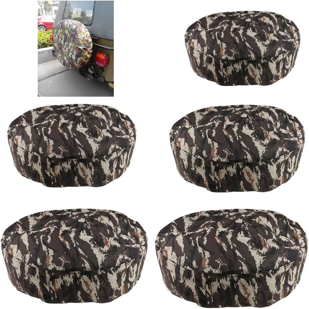 Black XS to XL 13 inch ~17 inch Overdrive Universal Fit Wheel Tire Cover Liberty Spare Tire Cover 13