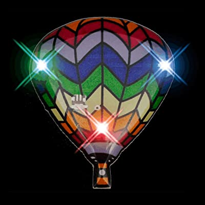 blinkee Hot Air Balloon Flashing Body Light Lapel Pins: Toys & Games