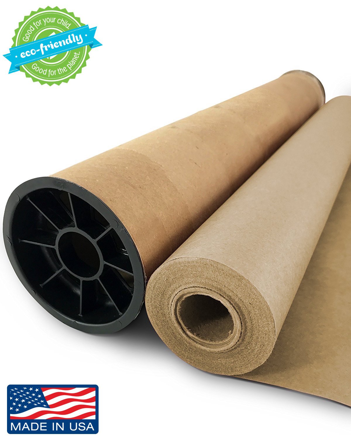 Brown Kraft Paper Jumbo Roll - 30'' x 1200'' (100ft) with Durable Carry Tube | Ideal for Gift Wrapping, Art, Craft, Postal, Packing, Shipping, Floor Covering, Dunnage, Parcel, Table Runner | Made in USA by Mighty Dreams