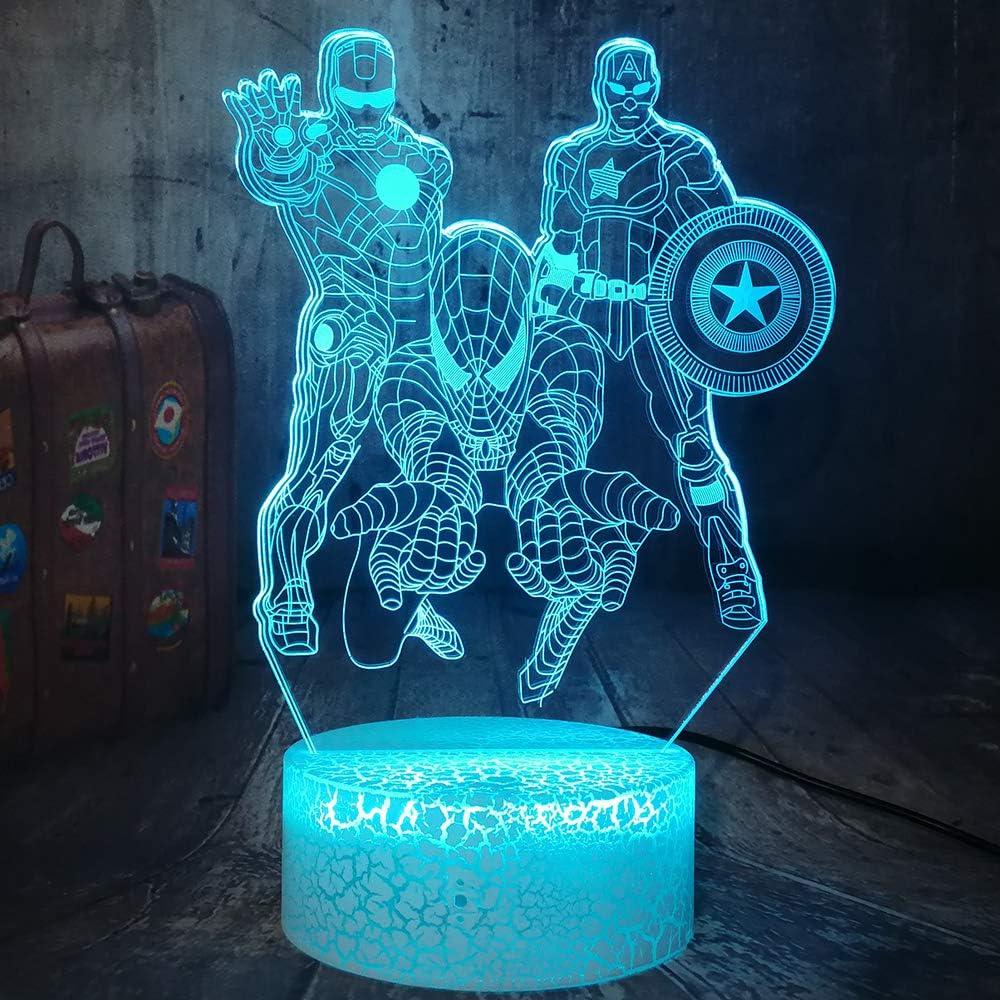 Luz Cap. America, Iron Man y Spider-man