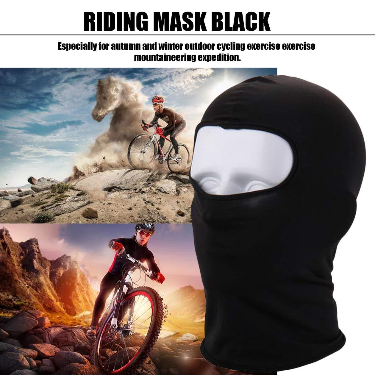 HONGIRT Coprispalle Caldo in Pile alla Moda Maschera da Sci Antivento Antivento Cappuccio da Snowboard Anti-Polvere Sciarpa Passamontagna Termica Colore: Nero