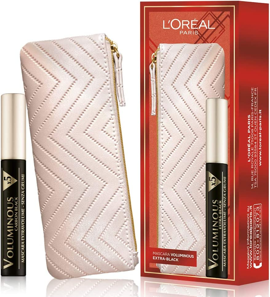 LOréal Paris Makeup Mascara Box Voluminous con bolsa – 50 g: Amazon.es: Belleza